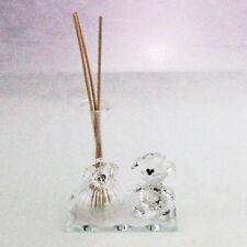 DLM25893 Profumatore Orsetto con Fiore in cristallo Trasparente (kit 6 pezzi) bo