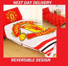 MANCHESTER FC UNITED FOOTBALL CLUB SINGLE DOONA QUILT DUVET COVER SET,GENUINE