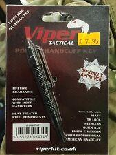 Viper Pocket Tactical Handcuff Key HIATT Police Speedcuff Security extra long