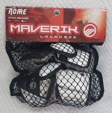 New Maverik Lacrosse Rome Attack Arm Guard Size Medium Black/White