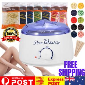 Depilatory Hair Removal Brazilian Hard Wax Bean Heater Warmer Pot Machine Kit AU