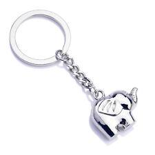 Vintage Funny Elephant Gold Keychain Keyring Key Charm Keyfob Gift Souvenir P&C