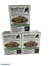 JustFoodForDogs Pantry Fresh Dog Food Human Quality Ingredients Natural & Ready