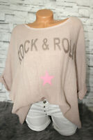 Italy New Collection T-Shirt rosa Rock & Roll Oversized Gr. 36 38 40 42 blogger