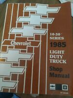 1985 Chevrolet 10 - 30 Series Light Duty Truck Service Shop Manual