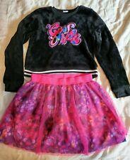 DreamWorks Trolls 2 Piece Set Girls XL Sweatshirt & Skirt ~ Good vibes