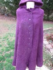 Vintage 1960's JR. Women's D'Accord by Betty Carol Mohair & Wool Purple Cape SM