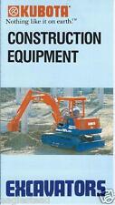 Equipment Brochure - Kubota - Excavator Line Overview - c1989 (E2930) - S