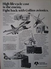 3/82 PUB ROCKWELL COLLINS AVIONICS ARC-186 VHF FM/AM ARN-118 TACAN ICS JTIDS AD