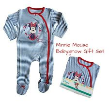 Baby Girls MINNIE MOUSE Babygrow Sleepsuit Gift 100% Cotton