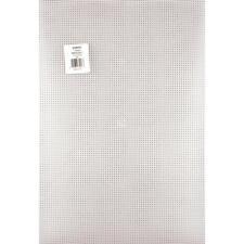 "NEW!! Darice 7 Mesh CLEAR PLASTIC CANVAS 12"" X 18"" (30.5 cm X 45.7 cm) 1 Sheet"