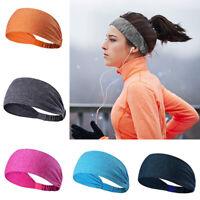Women Elastic Hair Bands Ladies Sport Yoga Headwear Turban Wide Headband
