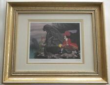 Walt Disney Official PETER PAN Deluxe Framed CAPTAIN HOOK Litho Print