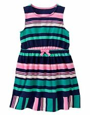 NEW Gymboree Baby Toddler Girls Size 5 Blue Pink Spearmint Stripe Dress