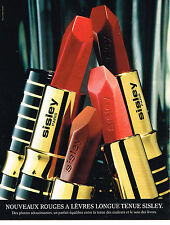 PUBLICITE ADVERTISING 074  1997  SISLEY  xosmétiques collection ROUGE A LEVRES