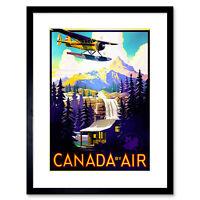 Travel Canada Air Plane Forest Mountain Framed Art Print 9x7 Inch
