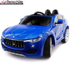 Auto macchina Elettrica 12V Per Bambini 2 posti Maserati Levante BLU