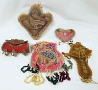 Lot of 5 Native American Bead Work Beadwork Pieces in Varying Condition