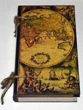 Small Antique Map Book Box-Great for Theme Party Decoration