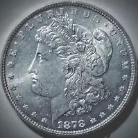 "1878 7/8 tf Morgan Silver Dollar-GEM~VAM-33 Doubled Legs~Dbl ""PRB""-Open Nostril"