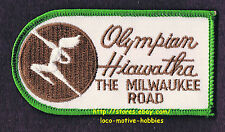 LMH PATCH Badge  OLYMPIAN HIAWATHA Passenger Train  MILWAUKEE ROAD Railroad  grn