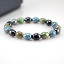 Power Ionics Healthy Womens Tourmaline Ion Mixed Beads Bracelet Wristband PG008