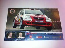 CP POSTCARD CARTOLINA CITROEN C2 HENRY RALLY RALLYE WRC 2004