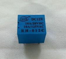 1 pc RH-012C Power Relay Coil DC 12V 5Pins 5-pins SPDT 10A + USA Free ship Tech