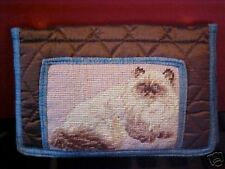 Rag Doll ~ Needlepoint Quilted Wallet Qw 323