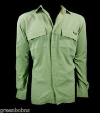 National Geographic Men Green Nylon Excursion Travel Shirt Size XL $69