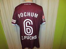 """Vfl bochum original proporcionen camiseta matchworn 2008/09 """"kik"""" + nº 6 C. zorro talla L"""