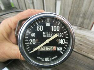 VINTAGE SW/STEWART WARNER 160 MPH SPEEDOMETER/HOT STREET RAT ROD