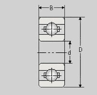 Miniatur Kugellager 696A 2RS, 6x16x5, 696 A 2RS