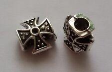10/25/50/75/100 Eisernes Kreuz Beads Großloch Perlen Paracord Armband K01