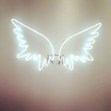 "New Angel Wing Wall Decor Art Real Glass Handmade Neon Sign 17""x14"""