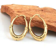 18k Gold Filled Vintage Oval Hoop Earrings