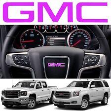 Pink GMC Steering Wheel Emblem Vinyl Decal 2014-2018 Sierra Yukon New Free Ship