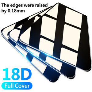 18D Full Screen Protector For iPhone 13 12 11 Pro Max XS XR X 8 Tempered Glass
