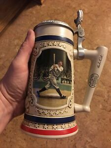 "Vintage ""Babe Ruth The Called Shot"" Bradford Legends of Baseball Beer Stein 1993"