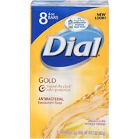 Dial Antibacterial Bar Soap, Gold, 4 Ounce Pack of 8 Bars