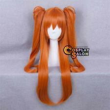 Ponytails Anime for Neon Genesis Evangelion EVA Soryu Asuka Orange Cosplay Wig