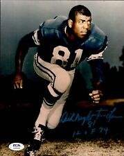 Dick Night Train Lane Signed Photo 8x10 Autographed w/HOF Lions PSA/DNA AH28446