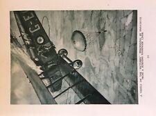m17a1 ephemera 1920s book plate airmen jump from a burning plane