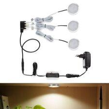 3er LED Schrankleuchte, insgesamt 6W 510lm Küchenlampen, Vitrinenbeleuchtung