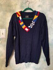 Vintage 80's Christian Dior Monsieur Navy Blue Nautical Sweater Sz. M