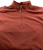 Men's Woolrich 1/4 Zip Long Sleeve Shirt Size Large L