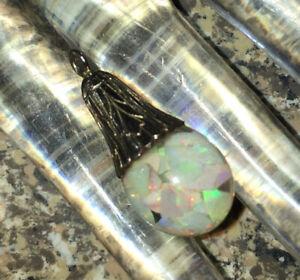 Vintage Signed 12K Floating Opal Charm Pendant!!!