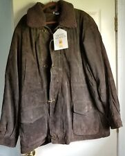 Men's Merit Awards Chocolate Brown Suede Jacket Size XXL Wool Lining