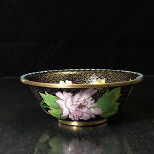 Vintage Small Floral Cloisonné Enamel Bowl 4-7/8� x 1-3/4� Excellent Condition
