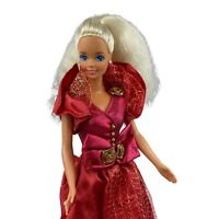 Vintage Barbie Fashion Doll Blonde Hair Red Gown Mattel 90's